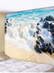 Beach Sea Spoondrift Print Wall Tapestry -