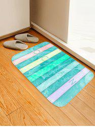 Colorful Letter Sea Wave Print Antislip Floor Rug -