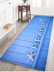 Starfish Letter Wood Print Antislip Floor Rug -