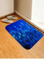 Deep-sea Fish Print Floor Runner Rugs Doormat -