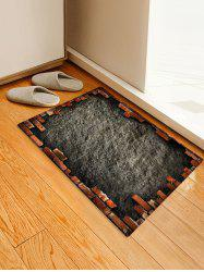 Antiskid Broken Briack Wall Printed Area Mat -