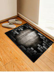 Broken Bricks Wall Printed Antiskid Area Mat -