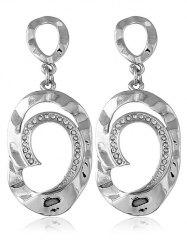 Artificial Diamond Dangle Hoop Earrings -