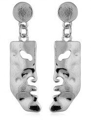 Face Shaped Solid Pendant Earrings -