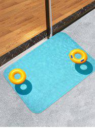 Swimming Pool Ring Print Antiskid Floor Rug -