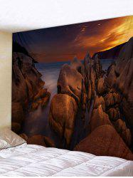 Sea Rock Sunset Tapisserie Tenture murale décor -