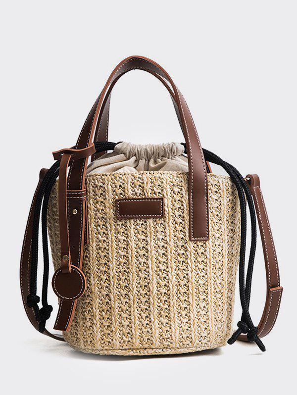 Outfit Vintage Straw String Crossbody Bag