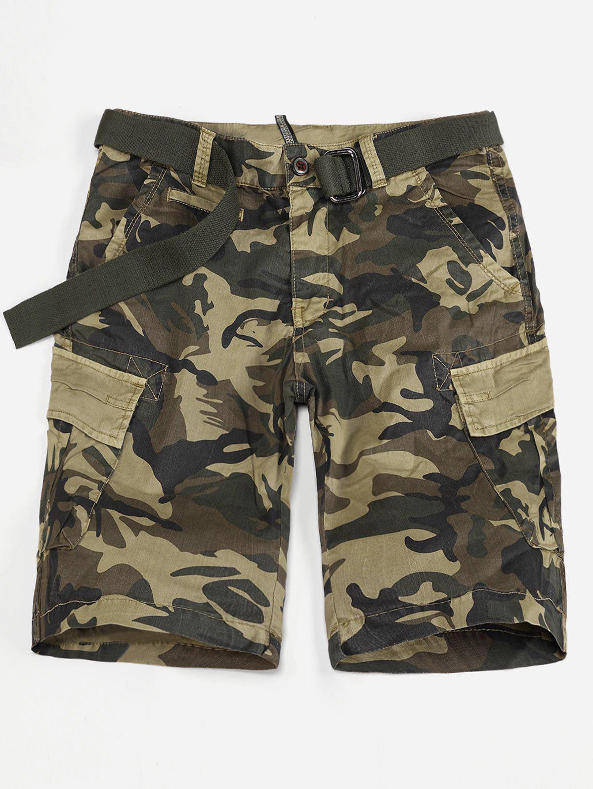 Outfits Flap Pocket Camo Print Cargo Shorts