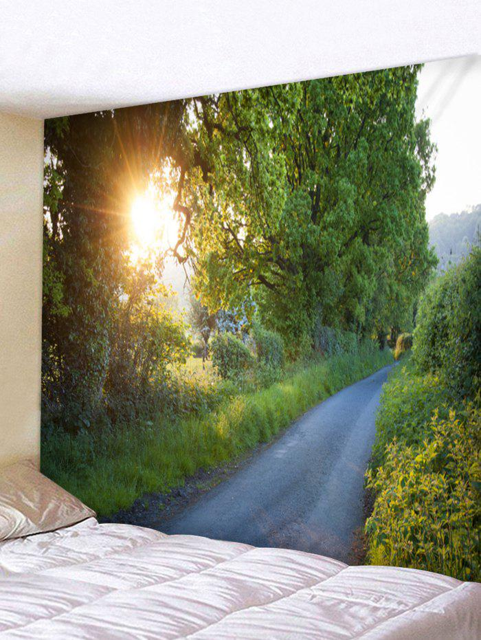 Hot Wall Hanging Art Sunlight Forest Path Print Tapestry