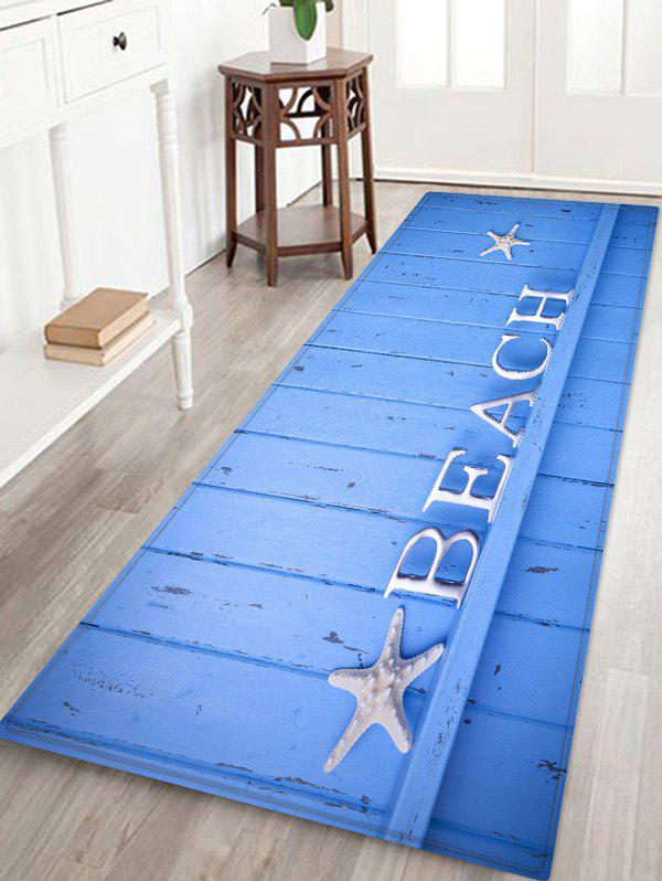 Outfits Starfish Letter Wood Print Antislip Floor Rug
