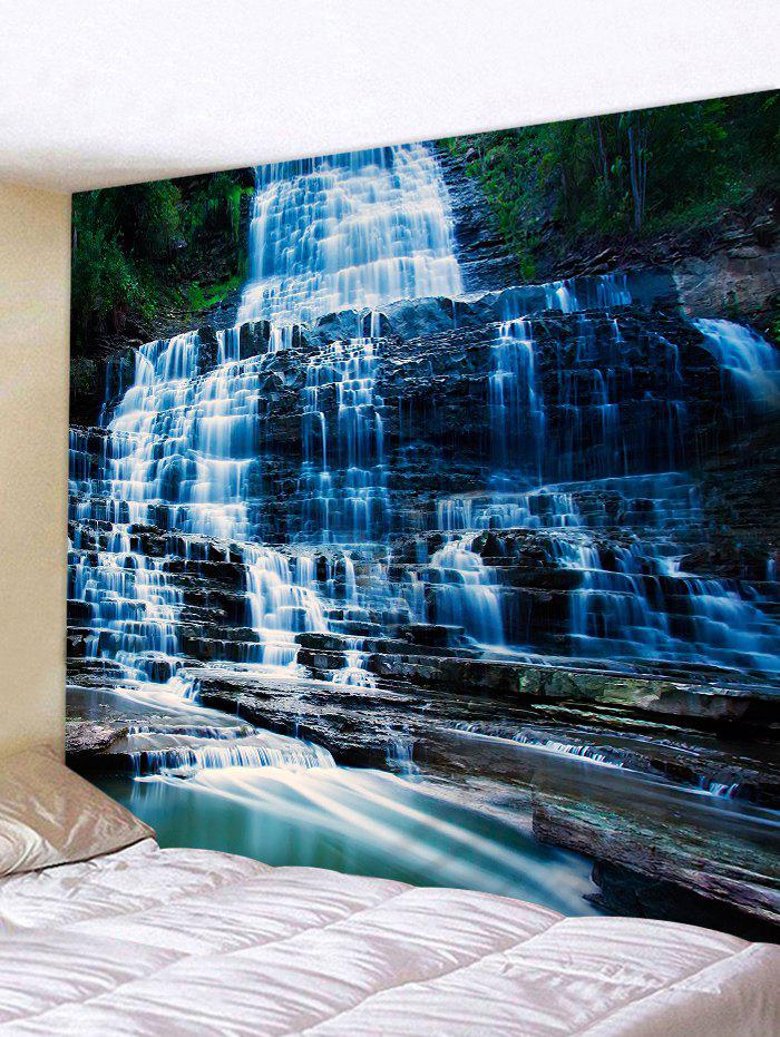 Cheap Mountain Stone Waterfall Print Wall Hanging Tapestry