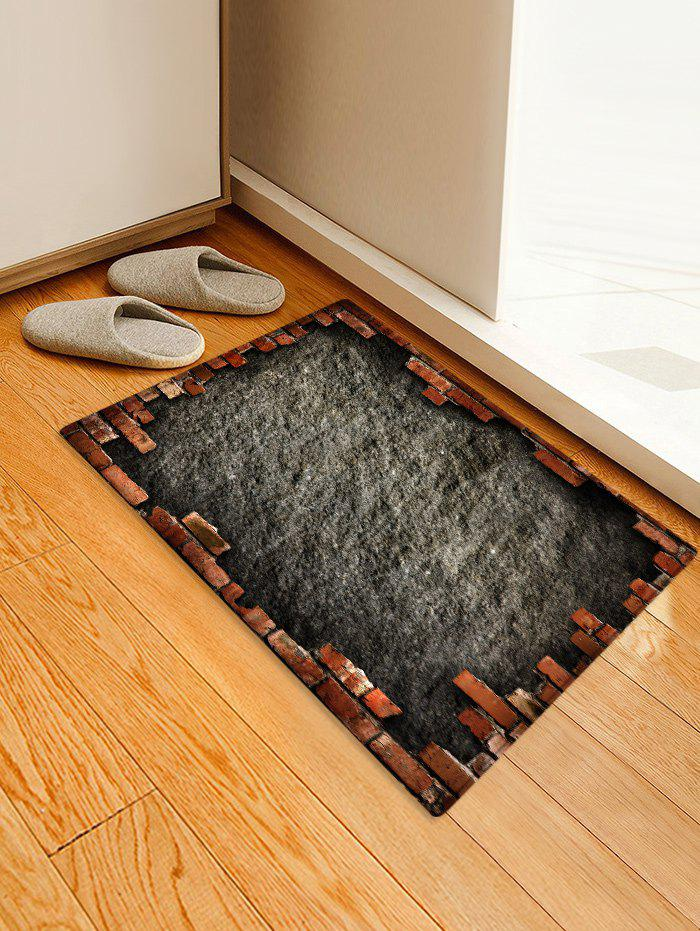 Outfit Antiskid Broken Briack Wall Printed Area Mat