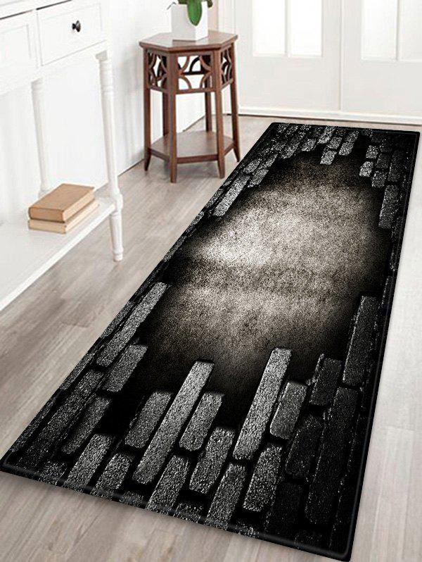 Best Broken Bricks Wall Printed Antiskid Area Mat