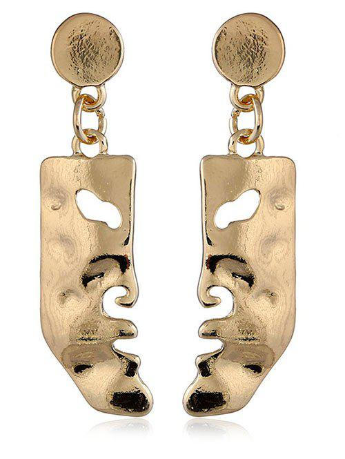 Online Face Shaped Solid Pendant Earrings