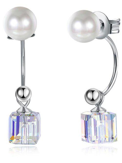 Buy Unique Faux Pearl Square Party Wedding Gift Earrings