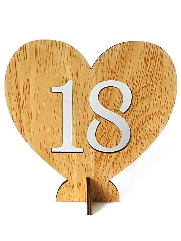 Sale Number 1 to 20 Sign Wooden Heart Wedding Decor Set