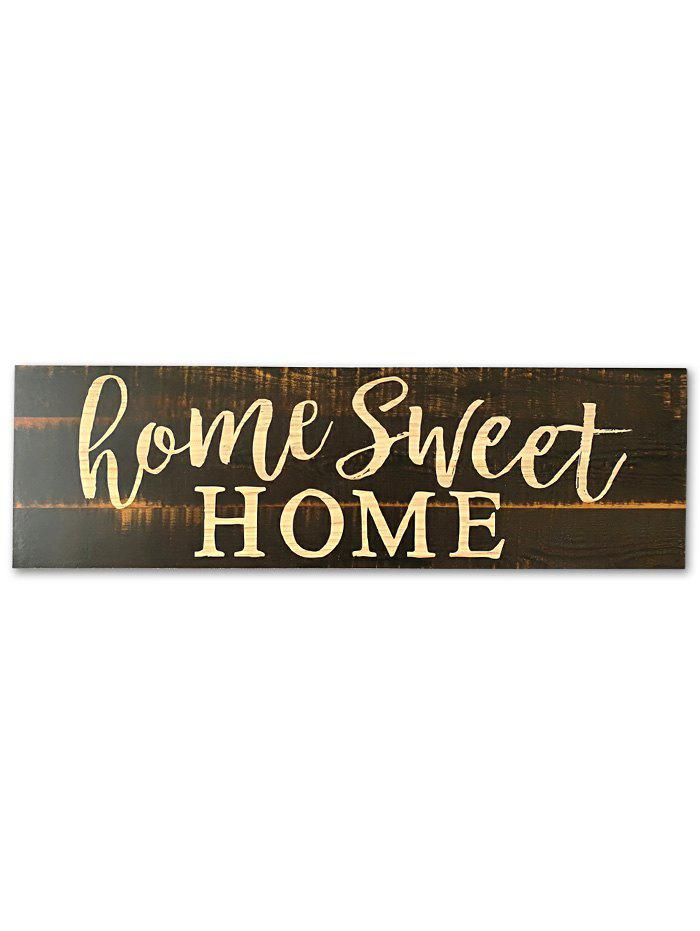 Trendy Wood Engraved Sweet Home Sign Home Decoration