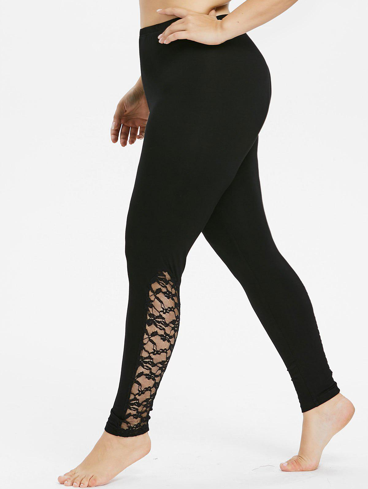 Buy Plus Size Bottom Lace Detail Leggings