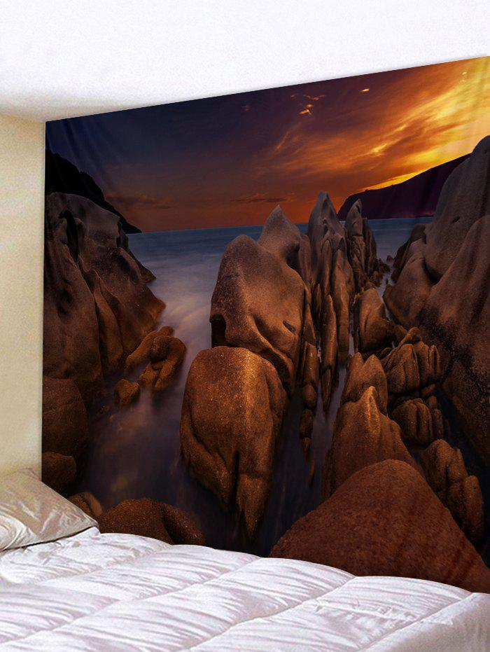 Shops Sea Rock Sunset Print Tapestry Wall Hanging Decor