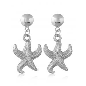 Alloy Starfish Shape Stud Drop Earrings -