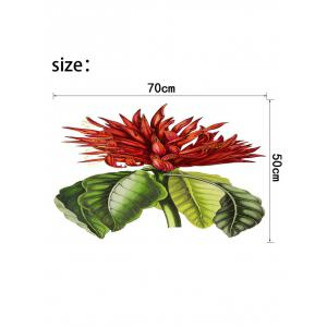 Tropical Flower Print Wall Sticker for Bedrooms -