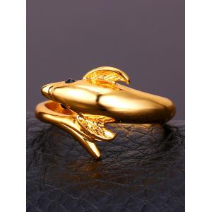 Pretty Carving Dolphin Ring -
