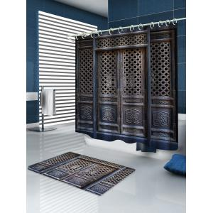 Wooden House Print Waterproof Bathroom Shower Curtain -