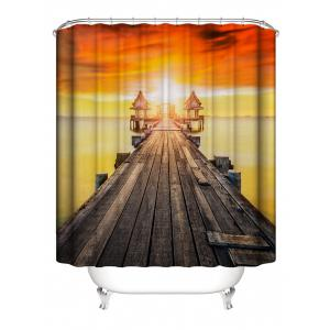 Rideau de douche imperméable à l'eau Sunset Bridge Print -