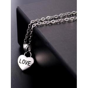 Stainless Steel Heart Designed Pendant Necklace -