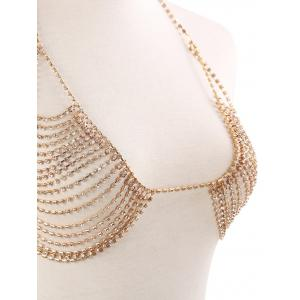 Rhinestone Inlaid Body Jewellery Bikini Chain Set -