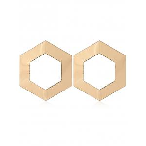 Alloy Geometric Shape Stud Earrings -