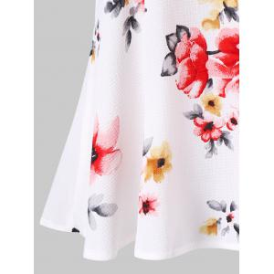 Spaghetti Strap Cold Shoulder Floral Blouse -