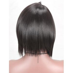 Side Parting Short Straight Synthetic Wig with Flip Bang -