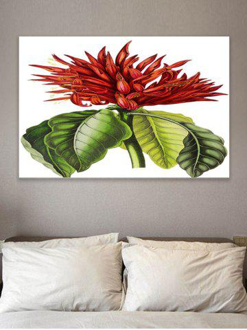 Outfit Tropical Flower Print Wall Sticker for Bedrooms