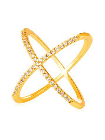 Shop Rhinestone Inlaid Criss Cross Gift Party Anniversary Ring