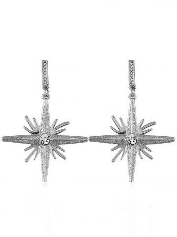 Latest North Star Rhinestone Decoration Dangle Earrings