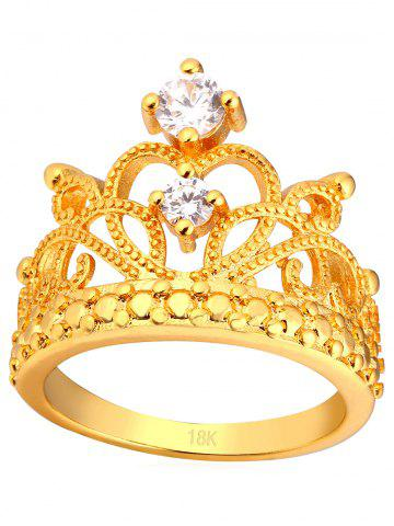 Fashion Vintage Rhinestone Inlaid Crown Decorative Ring