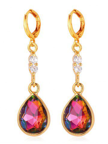 Store Rhinestone Faux Crystal Water Drop Design Hanging Earrings