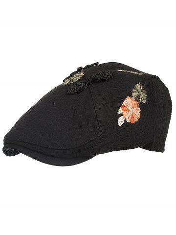 Store Retro Floral Embroidery Ivy Hat