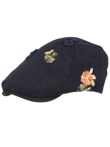 Unique Retro Floral Embroidery Ivy Hat
