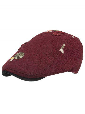 Fashion Retro Floral Embroidery Ivy Hat