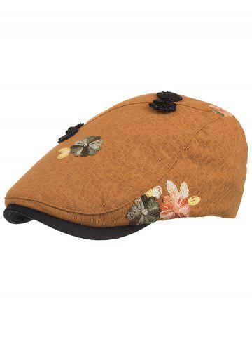 Fancy Retro Floral Embroidery Ivy Hat