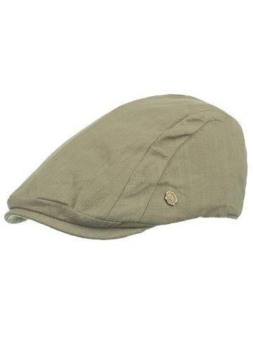 New Metal M Decorative Newsboy Cap