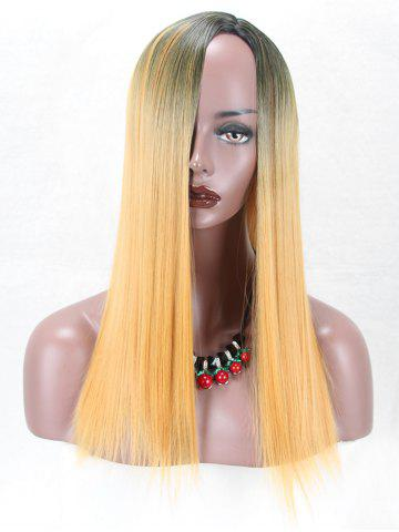 Discount Long Side Parting Colormix Straight Synthetic Wig