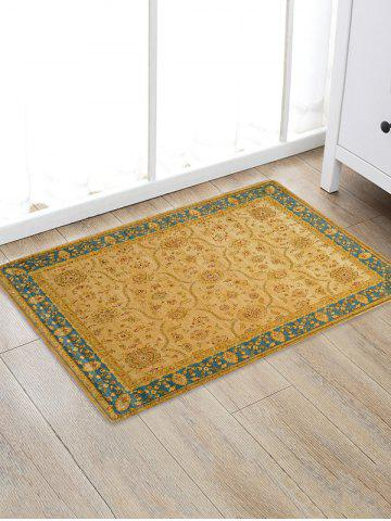 Outfit Floral Pattern Floor Antislip Bath Area Rug