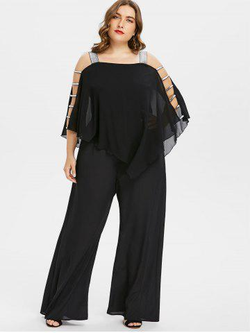 602f2d7f189e Ladder Cut Out Plus Size Asymmetrical Jumpsuit