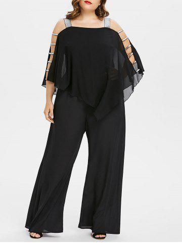 Shop Ladder Cut Out Plus Size Asymmetrical Jumpsuit