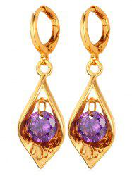 Synthetic Crystal Water Drop Designed Drop Earrings -