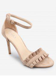 Ruffles High Heel Party Ankle Strap Sandals -