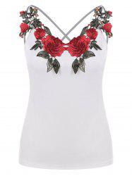 Applique Criss-cross Strappy Camisole -